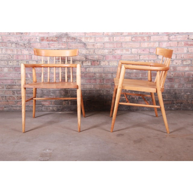 Paul McCobb Planner Group Solid Maple Spindle Back Armchairs - a Pair For Sale In South Bend - Image 6 of 13