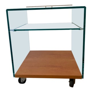 Rimadesio Mobile Glass End Table For Sale