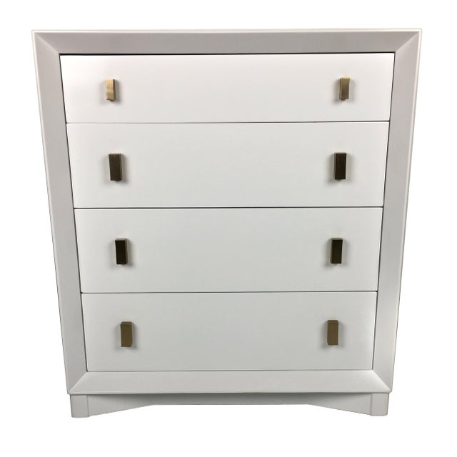 Contemporary Pale Grey Commode by Plymouth Furniture for John Stuart Ny For Sale - Image 3 of 6