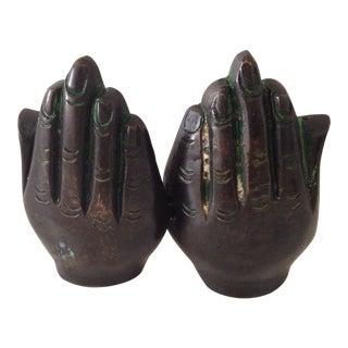 Bronze Carved Buddha Hands