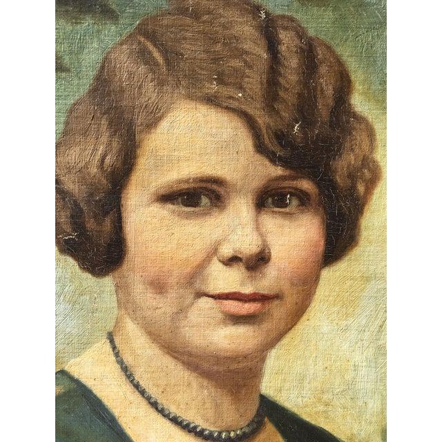 Vintage Mid-Century Oil Portrait - Image 3 of 4