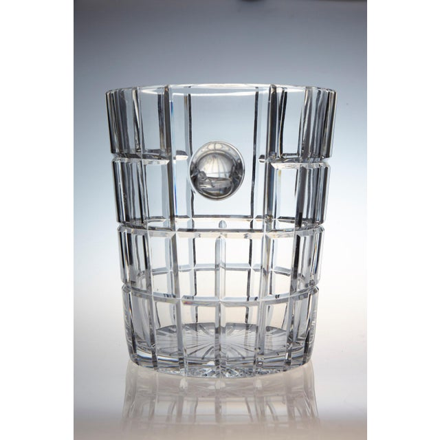 French Cut Crystal Wine Cooler or Champagne Ice Bucket With Handles, Circa 1960s For Sale - Image 4 of 9