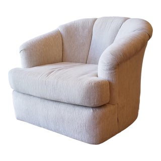 Late 20th Century Pembrook Lounge Swivel Bucket Chair For Sale