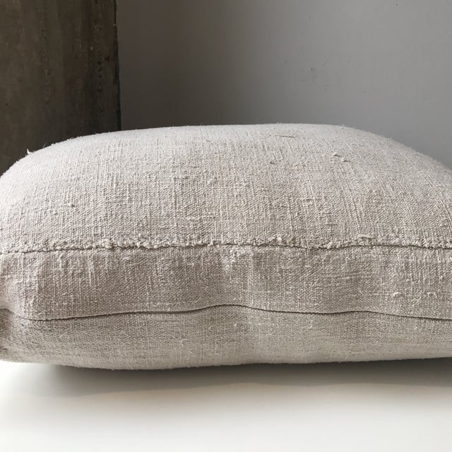 French Grain Sack Pillows - A Pair - Image 6 of 7