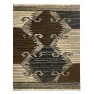 Rug & Relic Organic Modern Kilim | Proud Woman Motif Kilim | 3'4 X 4'1 For Sale