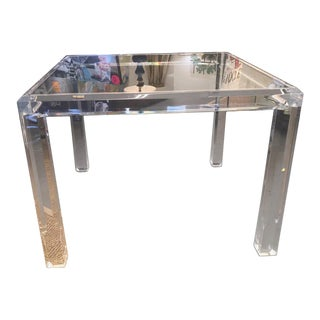 Vintage Mid Century Modern Lucite and Glass Dining Table For Sale