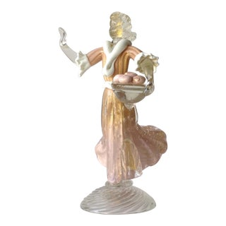 1930's Barovier e Toso Murano Female Sculpture For Sale