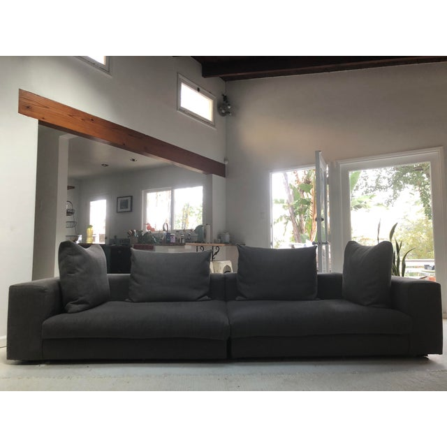 Gray Mid-Century Style Sectional Couch For Sale - Image 8 of 8