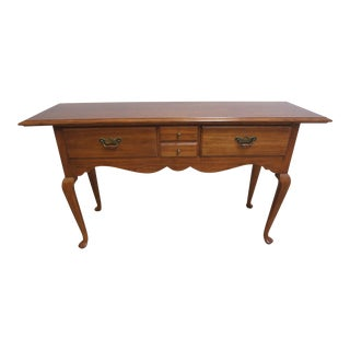 Thomasville Oak Carved Queen Anne Sideboard Server Buffet Console Hunt Board