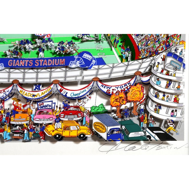 """Giants"", 3-D Serigraph of Giants Stadium by Charles Fazzino For Sale - Image 4 of 6"