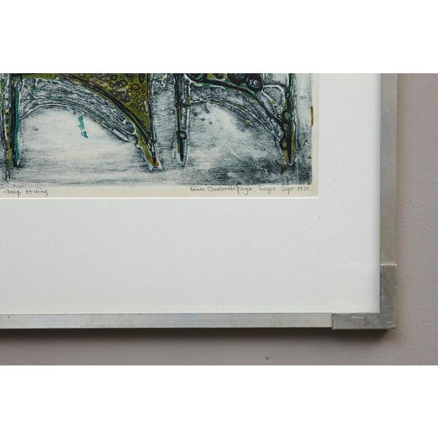Bruce Onobrakpeya Nomorere Print For Sale - Image 9 of 11