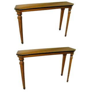 Pair of Custom Consoles in the Neoclassical Manner For Sale