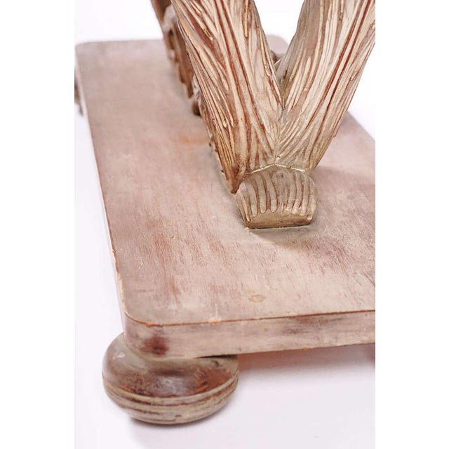 Carved and White Washed, Plume Based Console in the Manner of Grosfeld House For Sale In Chicago - Image 6 of 8