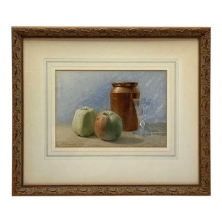 Antique Still Life Watercolour Painting by James Towers (1853-1950), English For Sale