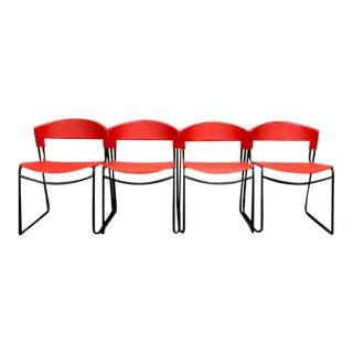 Vintage Paolo Favaretto Stacking Chairs - Set of 4 For Sale
