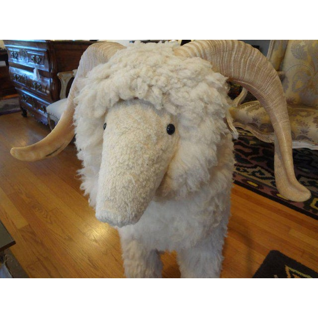 White Vintage Sheep Sculpture or Bench Inspired by Lalanne For Sale - Image 8 of 10
