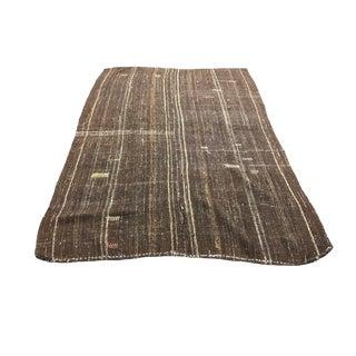 Aztec Decorative Organic Turkish Kilim Rug - 6′ × 8′8″ For Sale