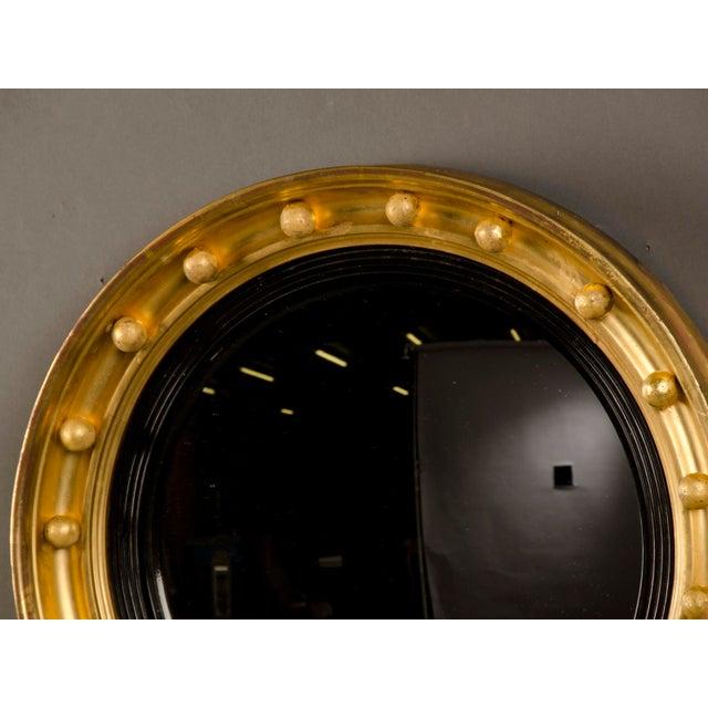 Antique English Regency Perios Gold Leaf Convex Mirror circa 1825 For Sale - Image 4 of 7