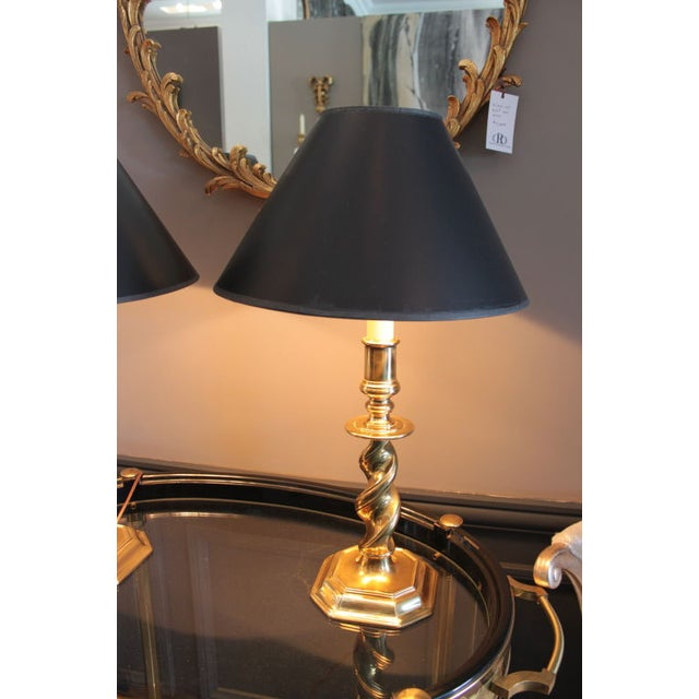 Stiffel Brass Lamps - Pair - Image 2 of 2
