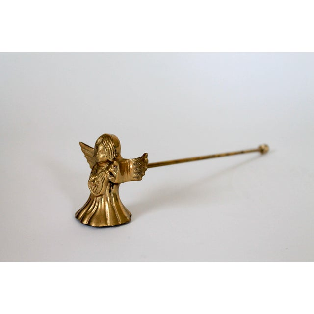 Mid 20th Century Brass Angel Candle Snuffer For Sale - Image 5 of 5