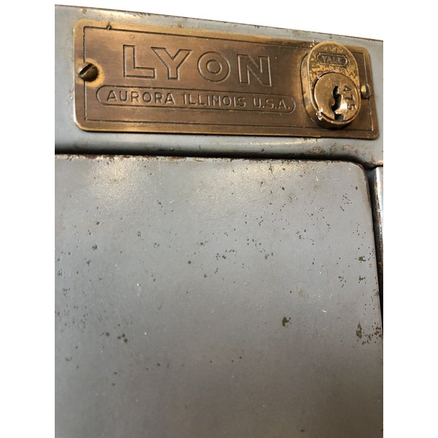 Vintage Lyon Metal Products Steel File Cabinet For Sale - Image 11 of 12