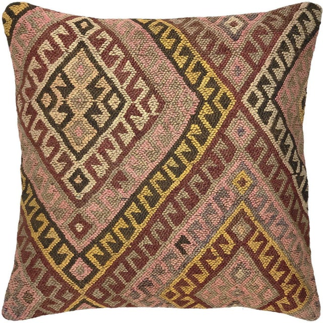 """Mid-Century Modern Muted MidCentury Kilim Pillow 