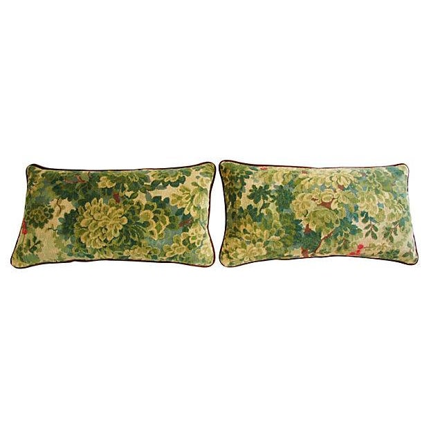 Designer Scalamandre Velvet Marly Pillows - A Pair - Image 6 of 7