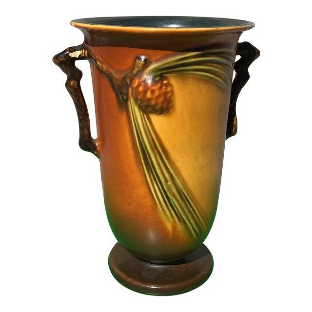 Vintage Roseville Pottery Pine Cone Vase Chairish