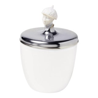 """Orient Malay"" Biscuit Jar with Platinum Lid by Ena Rottenberg For Sale"