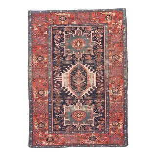 Antique Hand Made Karajeh Persian Rug- 4′7″ × 6′3″ For Sale