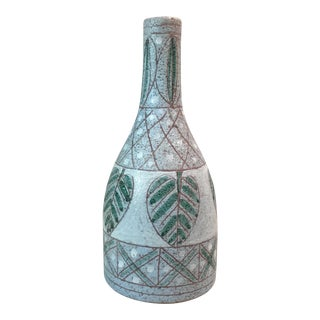 WoW Signed Mid-Century Italian Sgraffito Vase For Sale