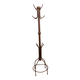 Final Markdown 19th Century English Brass Coat Hat Umbrella Stand For Sale