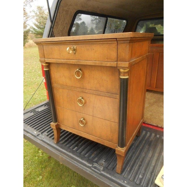 Art Deco Vintage Baker Furniture Nightstand For Sale - Image 3 of 8