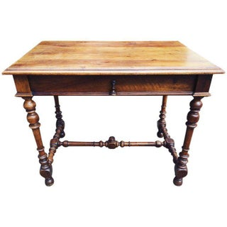 19th Century French Louis XIII Style Walnut Table or Desk For Sale