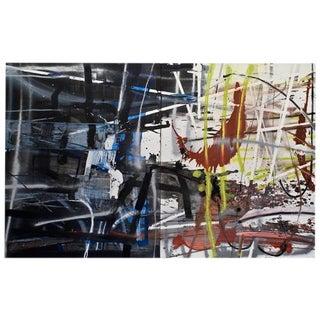 Philippa Blair 'Wake Up Call' Diptych Painting