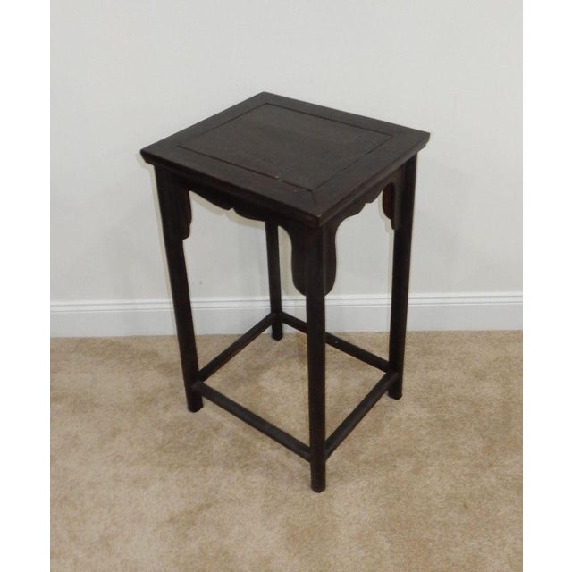 Antique Chinese Zitan Wood Side Table - Image 5 of 11