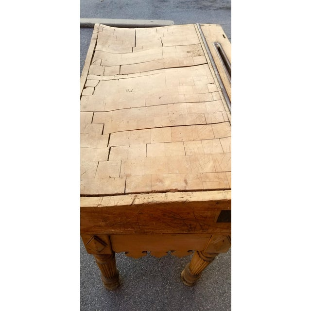 19th Century Parisian Butcher Block Table For Sale In New York - Image 6 of 13