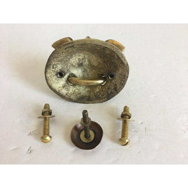 Metal Foo Dog Door Knocker For Sale - Image 7 of 7