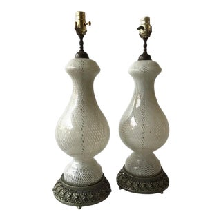 Pair of 1960s Venini Table Lamps For Sale