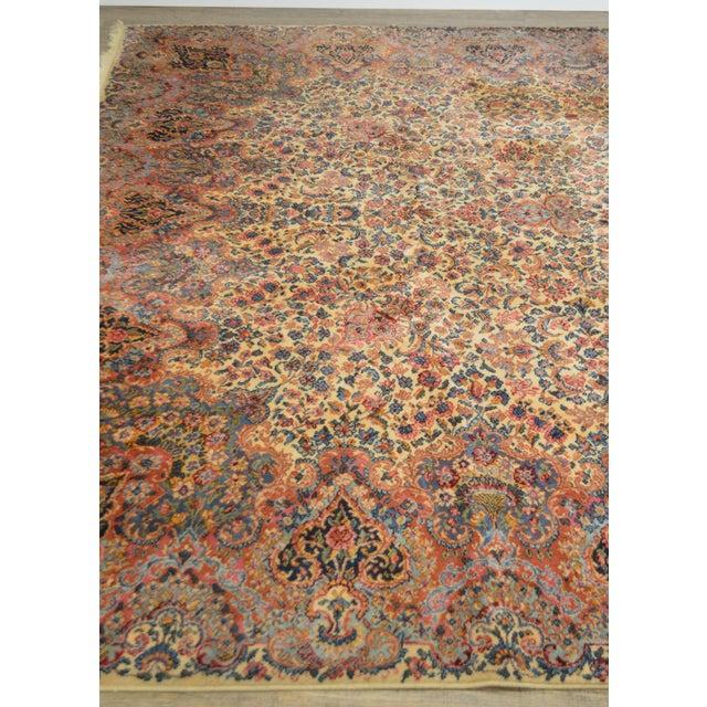 Red Karastan 10'x16' Kirman Vintage Large Room Size Carpet Rug #759 For Sale - Image 8 of 13
