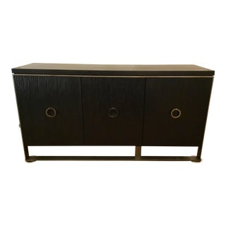 Caracole Modern Ebony Finished Asymmetrical Sideboard Prototype For Sale