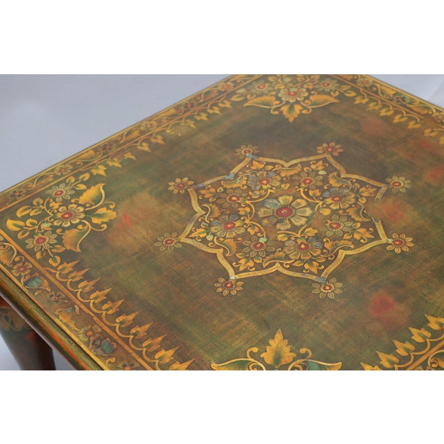 Anglo-Indian Wooden Painted Side Table For Sale - Image 3 of 5