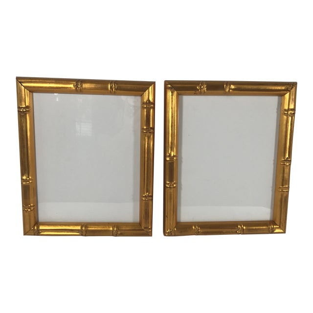 Pair of Gold Gilt Bamboo Frames For Sale