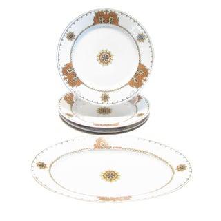 Antique European Heraldry Platter & Plates, Set of 5 For Sale