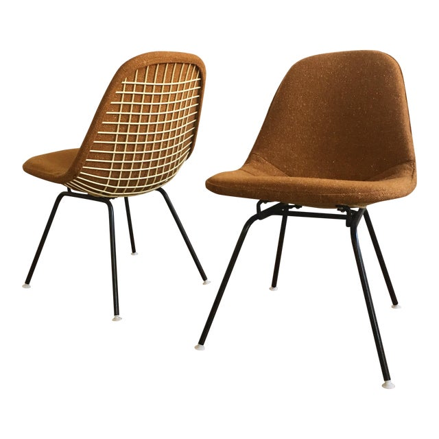 Herman Miller Eames Wire Chairs With Alexander Girard Covers - A Pair - Image 1 of 10