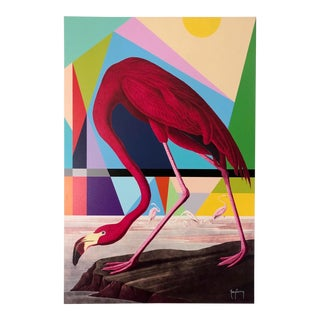 Modern Flamingo Fine Art Print by Tony Curry For Sale