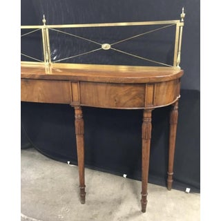 English Mahogany Server With Brass Gallery Circa 1820 Preview