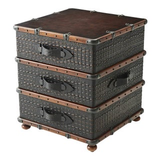 Luggage Style Bedside Chest of Drawers For Sale