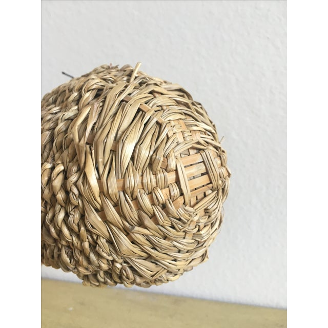 African Weaver Style Basket Bird House - Image 5 of 6
