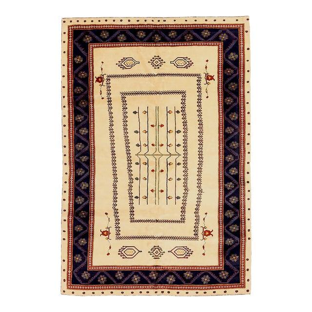 1960s Persian Area Rug Gabbeh Design For Sale